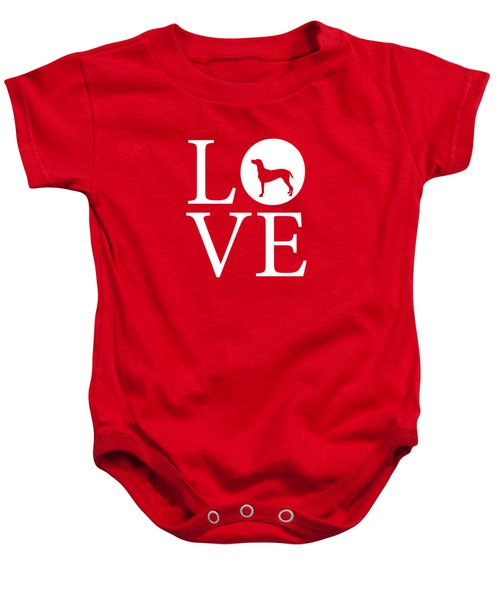 Weimaraner Love Red Baby Onesie