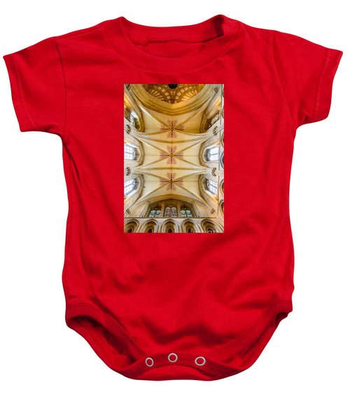 Wells Cathedral Ceiling Baby Onesie