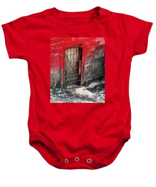What Lies Behind The Door Baby Onesie