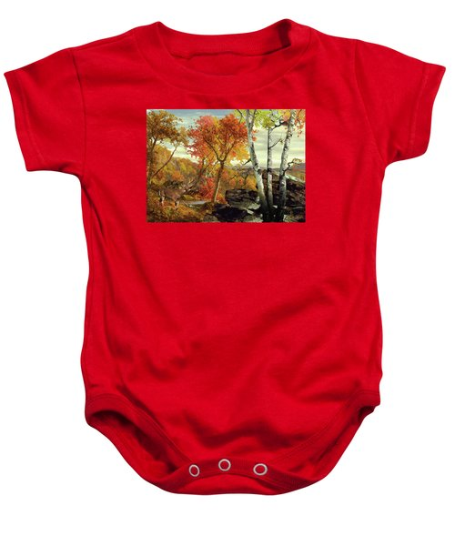 White-tailed Deer In The Poconos Baby Onesie