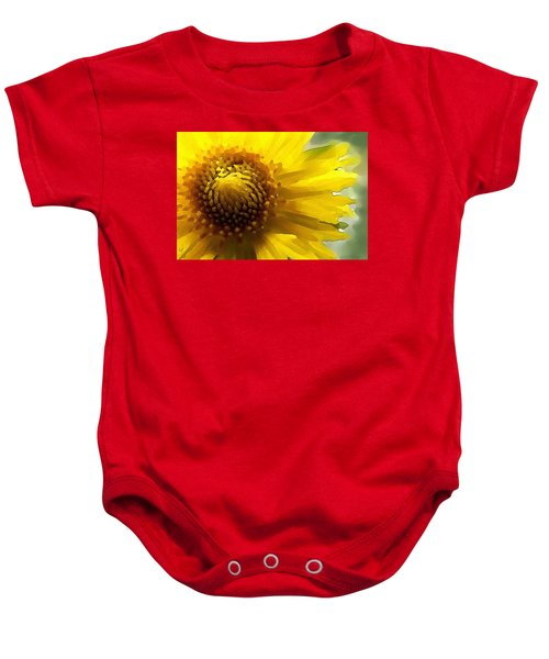 Wild Sunflower Up Close Baby Onesie