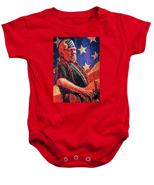 Willie Nelson Baby Onesie