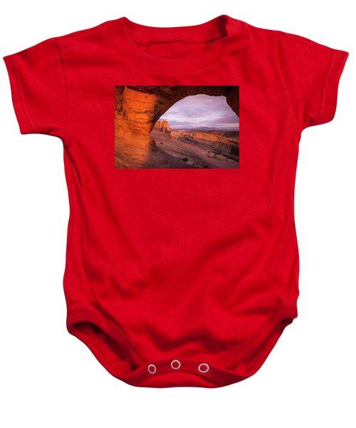 Window To Arch Baby Onesie