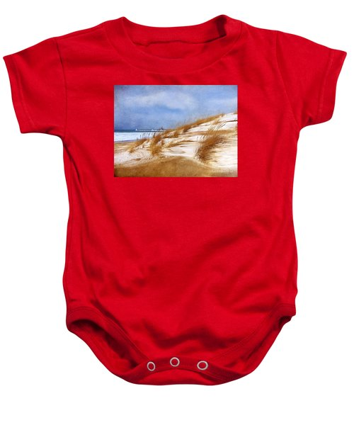 Wintertime St. Joe Lighthouse  Baby Onesie