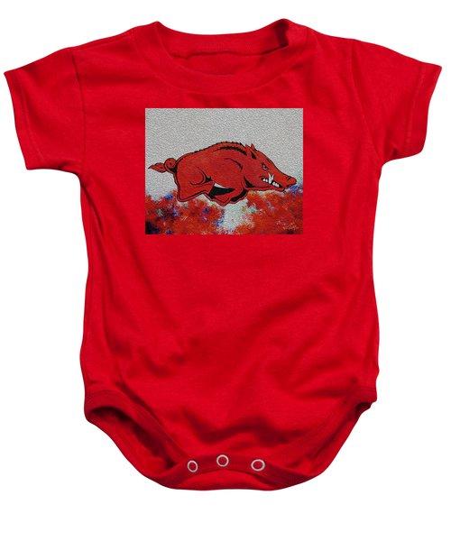 Woo Pig Sooie 2 Baby Onesie by Belinda Nagy