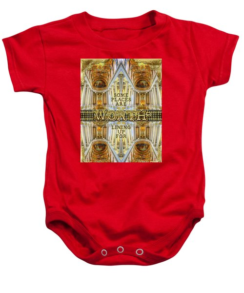 Worth Lining Up For Versailles Palace Chapel Paris Baby Onesie