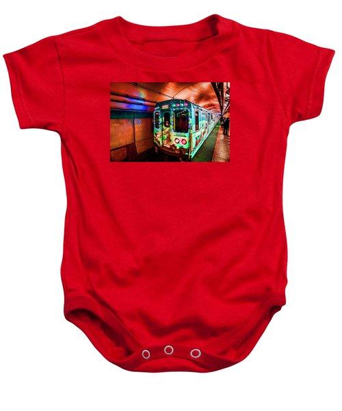 Xmas Subway Train Baby Onesie