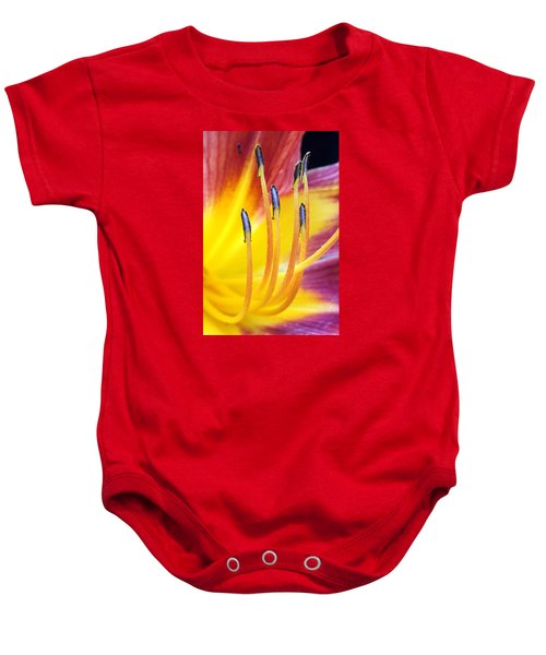 Yellow And Red Baby Onesie