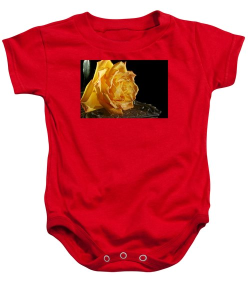 Yellow Rose Baby Onesie