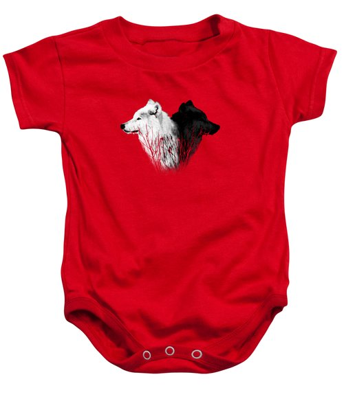Yellowstone Wolves T-shirt 2 Baby Onesie by Max Waugh