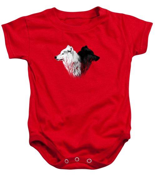Yellowstone Wolves T-shirt 2 Baby Onesie