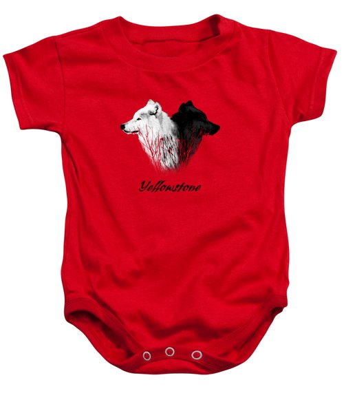 Yellowstone Wolves T-shirt Baby Onesie by Max Waugh