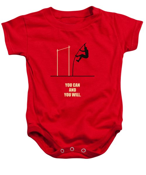 You Can And You Will Life Inspirational Quotes Poster Baby Onesie