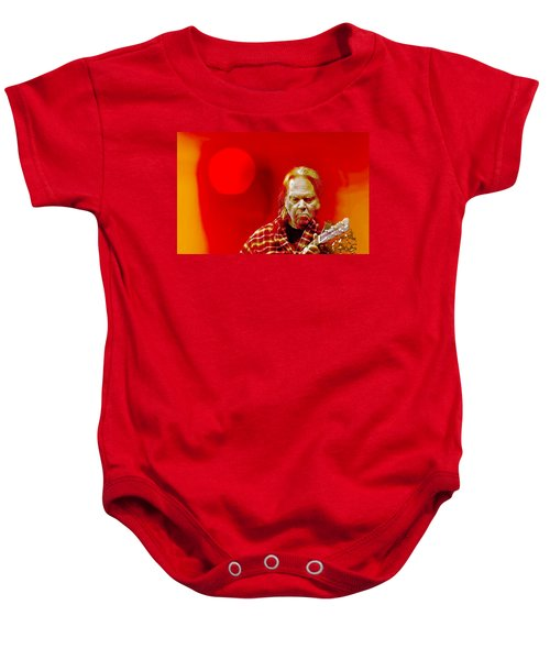 You Keep Me Searching Baby Onesie by Mal Bray