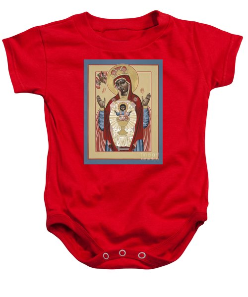 The Black Madonna Your Lap Has Become The Holy Table 060 Baby Onesie