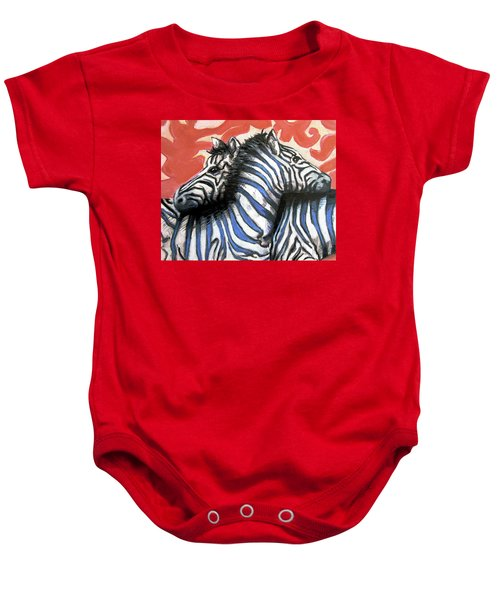 Zebra In Love Baby Onesie