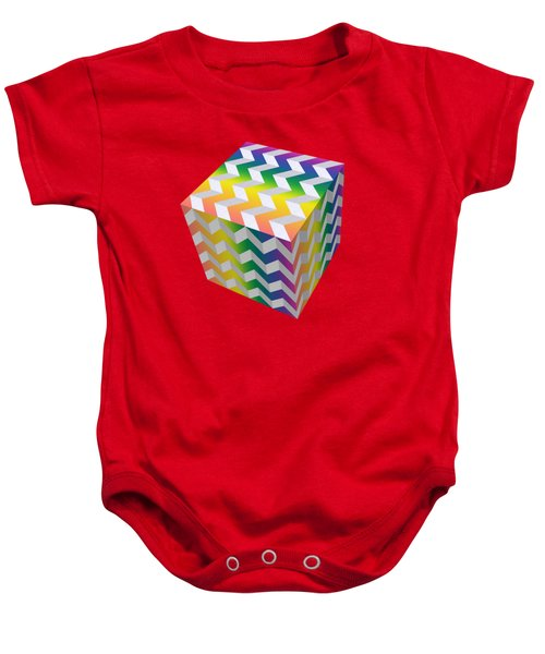 Zig Zag Cube Baby Onesie