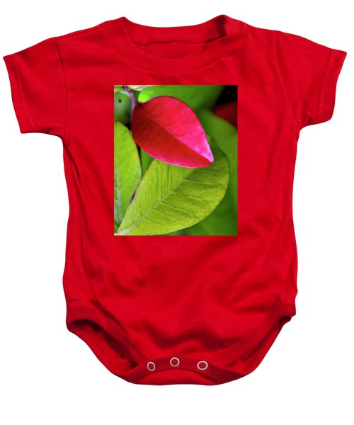 Colours. Red Baby Onesie