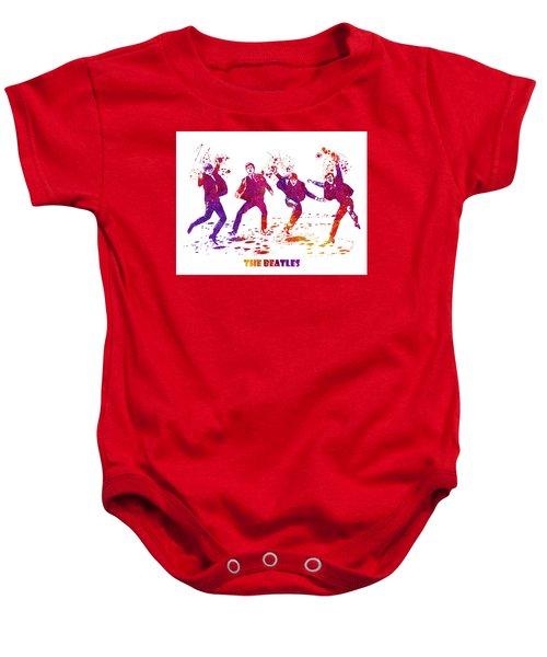 The Beatles Watercolor 01 Baby Onesie