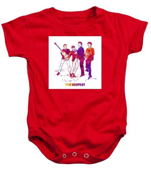 The Beatles Watercolor 02 Baby Onesie