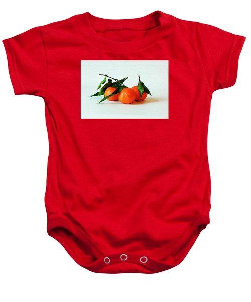 11--01-13 Studio. 3 Clementines Baby Onesie