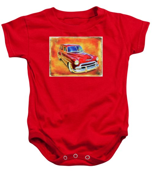 1951 Chevy Woody Baby Onesie