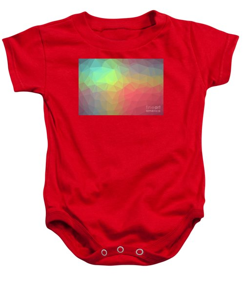 Gradient Background With Mosaic Shape Of Triangular And Square C Baby Onesie