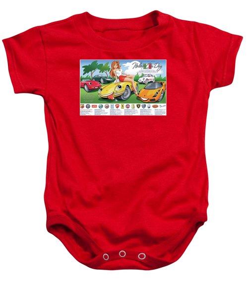 2018-2019 Atlanta Italian Car Day Poster Baby Onesie