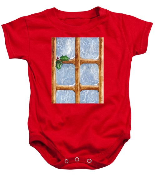 A Visit From Jack Frost Baby Onesie