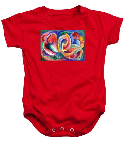 Abstraction Bloom Baby Onesie