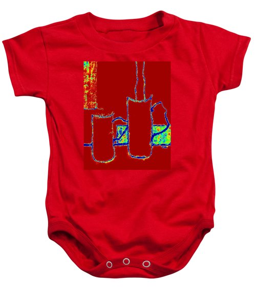 Always Connected  -  Red Baby Onesie