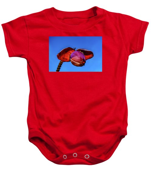 Baby Onesie featuring the photograph Banana Blossom by John Bauer
