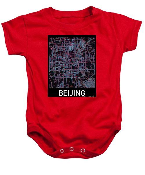 Beijing City Map Baby Onesie