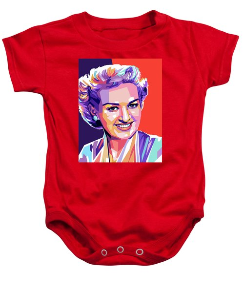 Betty Grable Pop Art Baby Onesie