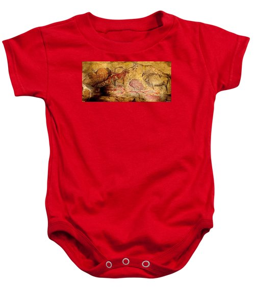 Bisons Horses And Other Animals Baby Onesie