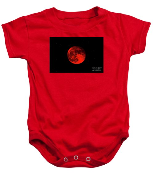 Blood Red Wolf Supermoon Eclipse 873a Baby Onesie