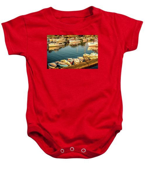 Boats In The Cove. Perkins Cove, Maine Baby Onesie