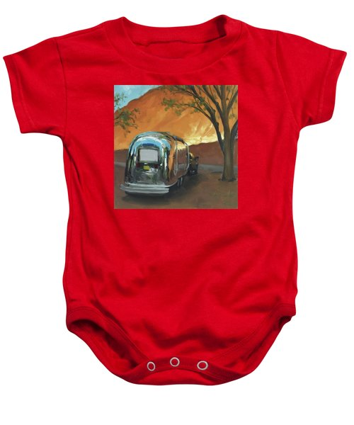 Camping At The Red Rocks Baby Onesie