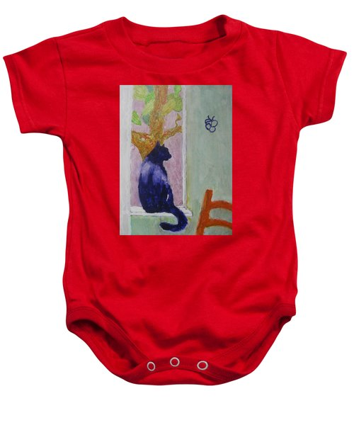 cat named Seamus Baby Onesie
