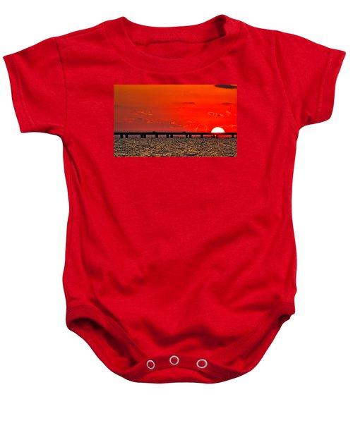 Causeway Sunset Baby Onesie