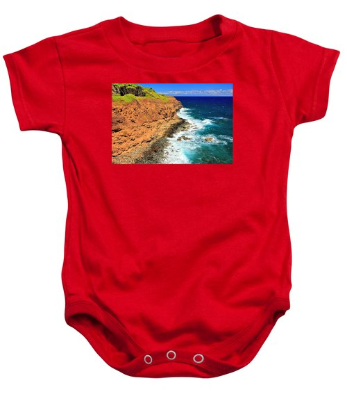 Cliff On Pacific Ocean Baby Onesie