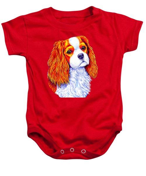 Colorful Cavalier King Charles Spaniel Dog Baby Onesie