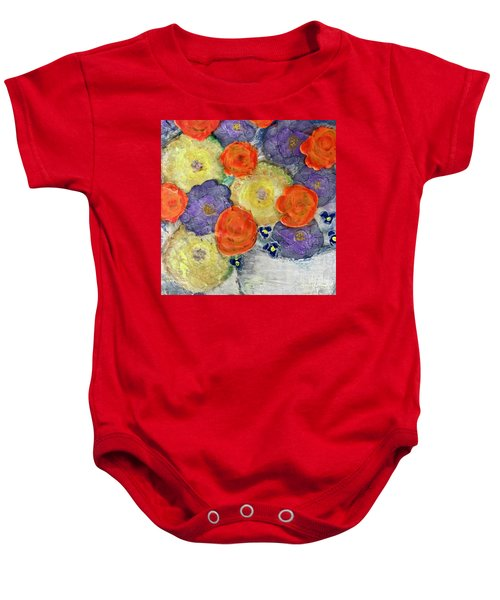 Crochet Bouquet Baby Onesie