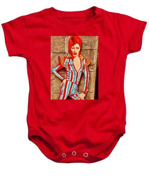 David Bowie Glory Days  Baby Onesie