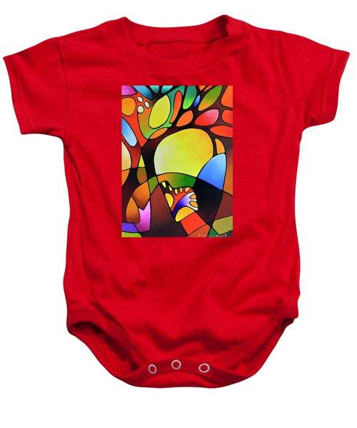 Daydream Canvas Three Baby Onesie