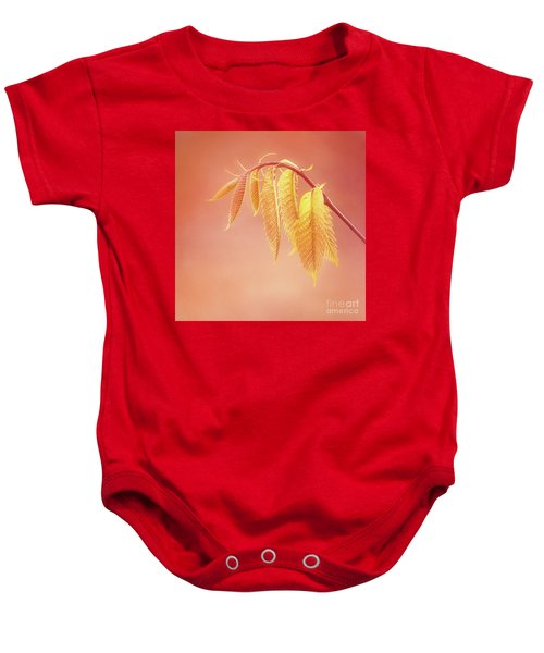 Delightful Baby Chestnut Leaves Baby Onesie