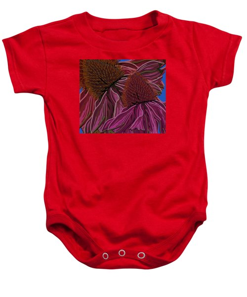 Echinacea Flower Blues Baby Onesie