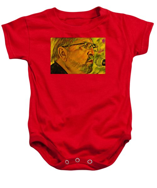 4ae61bda2 Baby Onesie featuring the digital art Eddie Sings Elvis by Barry Moore