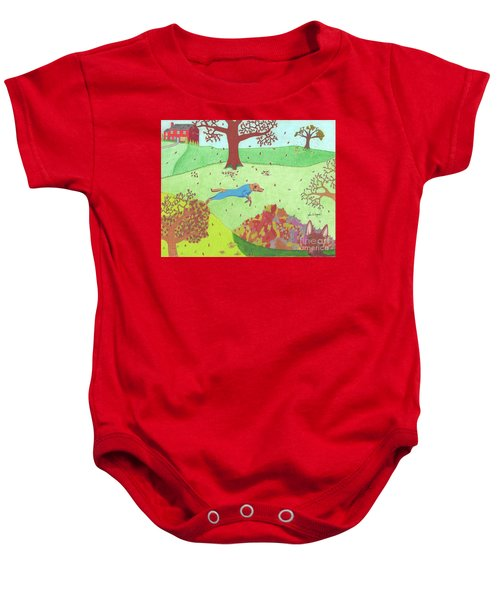 Falling Leaves Baby Onesie