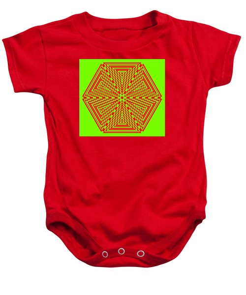 Green And Red Fusion  Baby Onesie